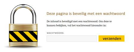 Een pagina beschermen met wachtwoord in WordPress