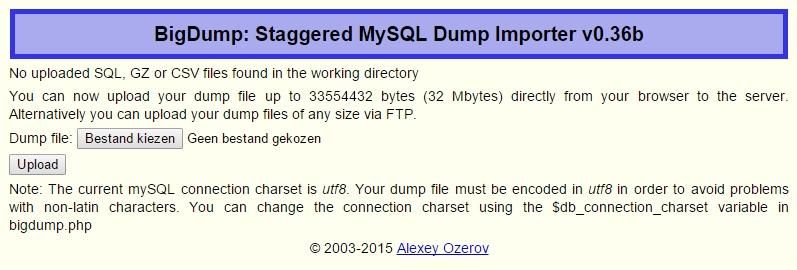 database importeren
