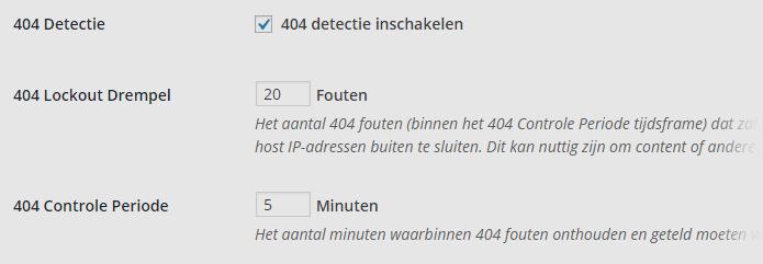 404 detectie wordpress