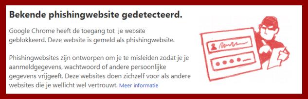 google blokkeerd website uit veiligheid