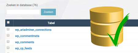 De database beheren via het WordPress admin