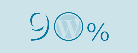 90 procent wordpress