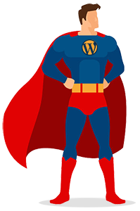 super wordpress man