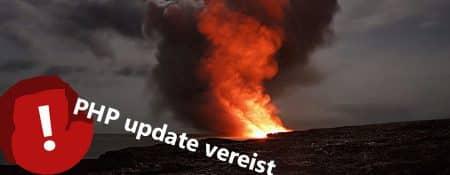 PHP update vereist, wat nu?