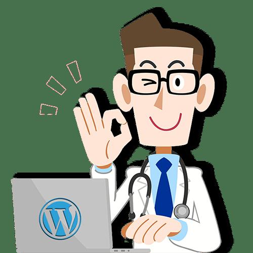 wordpress website man