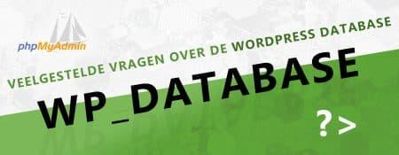 Veelgestelde vragen over de database van WordPress