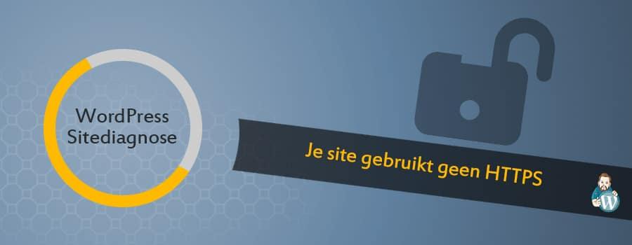 WordPress site geen https