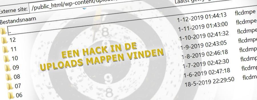 Een hack in de uploads mappen van WordPress vinden